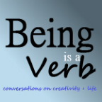 Being is a verb podcast graphic small