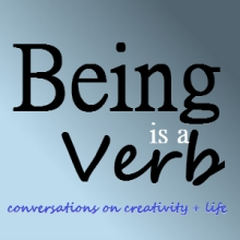 Being is a Verb Podcast graphic