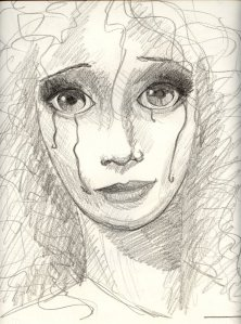 Crying Girl copyright Miche