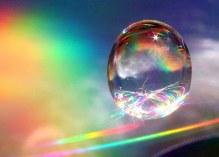 rainbow in water droplet